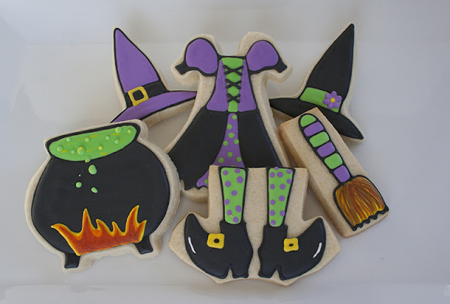 Witch Halloween Cookies
