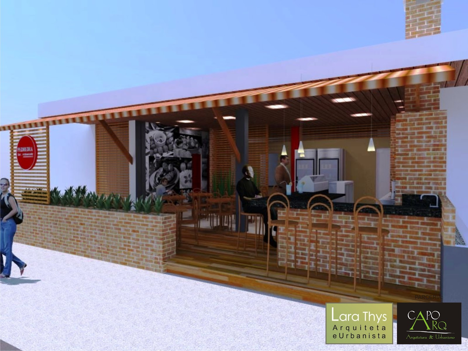 Além do salão a proprietária necessitava de uma cozinha industrial  #0258C9 1600 1200