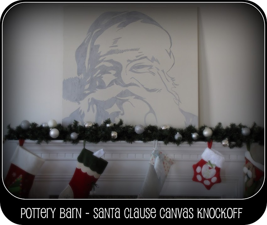 pottery barn santa canvas