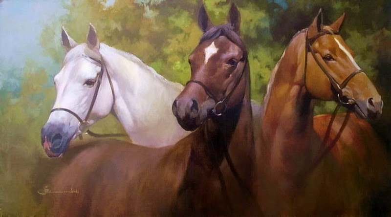 D.W.C. Horse - Painter Spartaco Lombardo