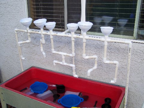 Play at home mom llc pvc pipe diy for Water wall plumbing