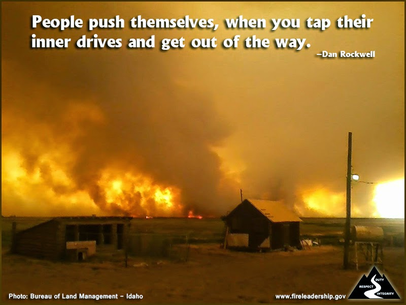 """People push themselves, when you tap their inner drives and get out of the way."" ~ Dan Rockwell"