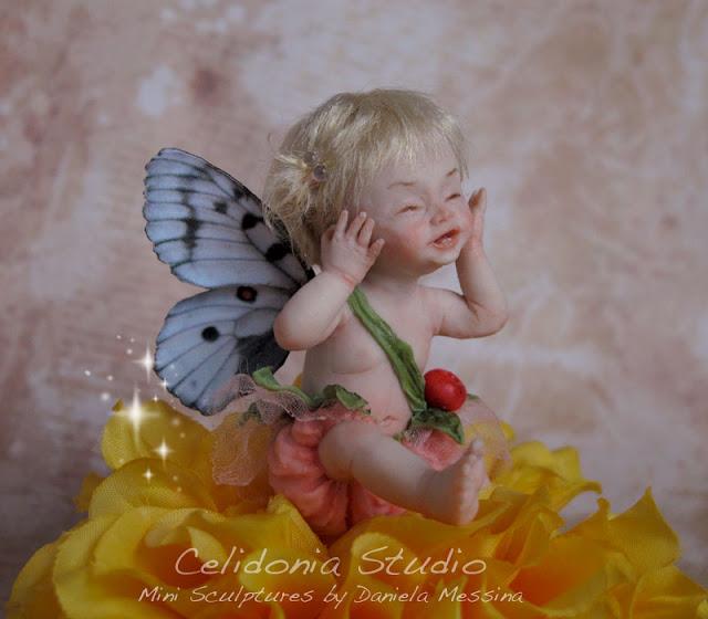 Baby Fatina OOAK modellata in Pasta Sintetica by Celidonia
