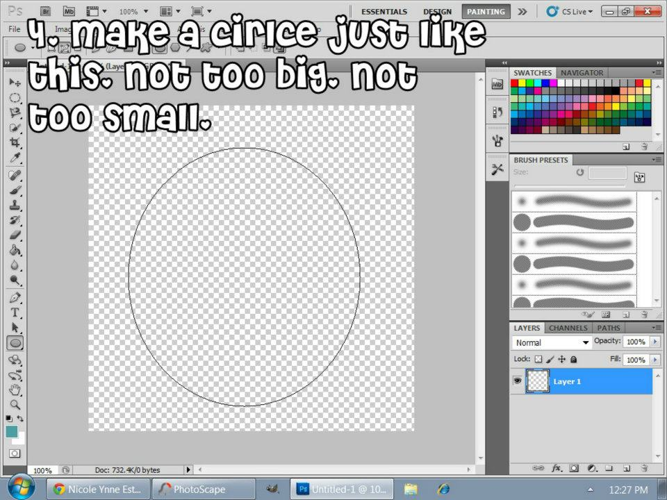 how to make a circle outline in photoshop cs5