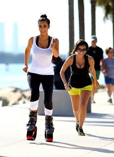 Kim Kardashian jogging