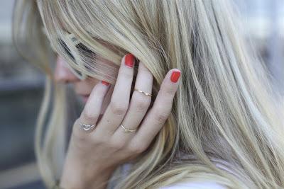 anéis multiple rings finos e delicados