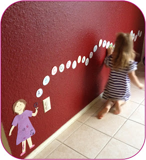 Bubble ABC wall decoration to help kids learn ABCs