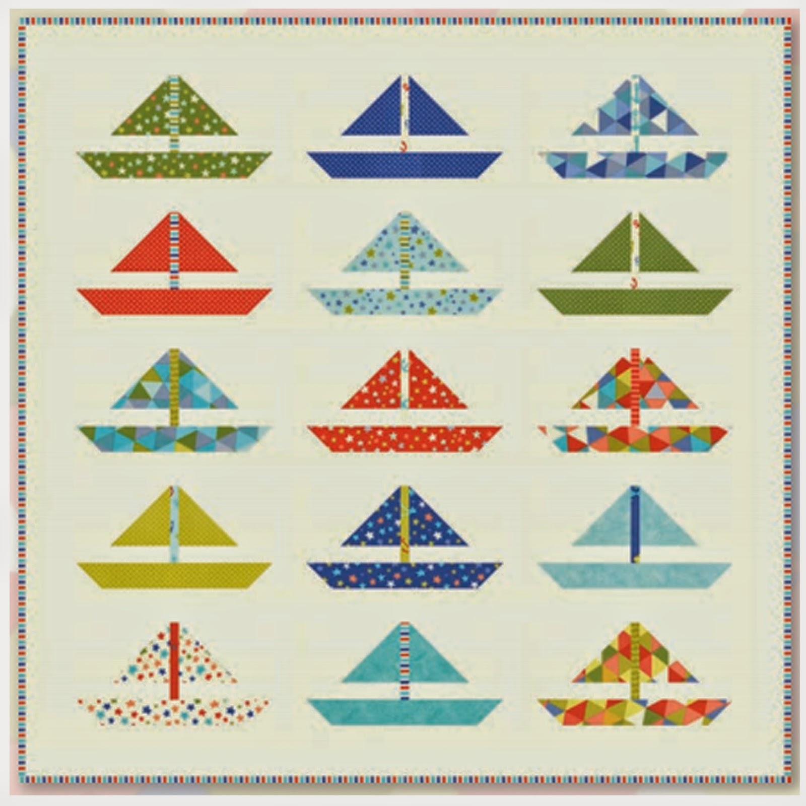 Moda BARTHOLO-MEOW'S REEF Free Quilt pattern