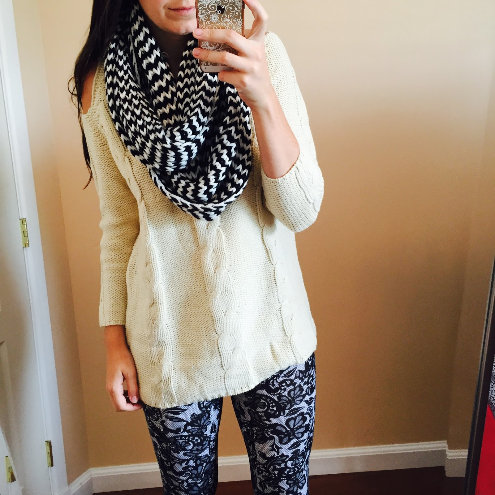 love, iris: how to style a ivory shoulder cut out sweater