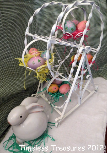 Timeless Treasures : Baskets of Easter Eggs on Ferris Wheel
