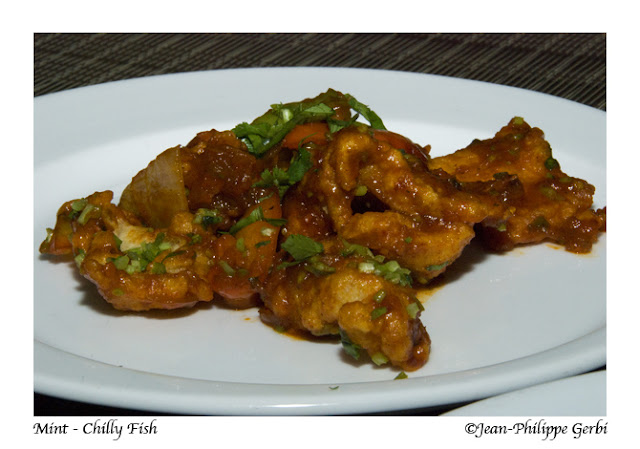 Image of Chilly fish at Mint Indian restaurant in NYC, New York
