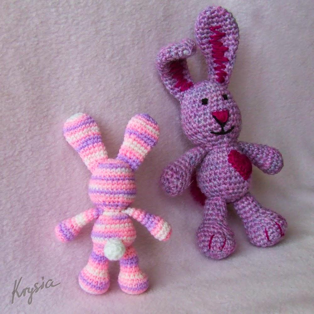 szydełkowe króliki amigurumi