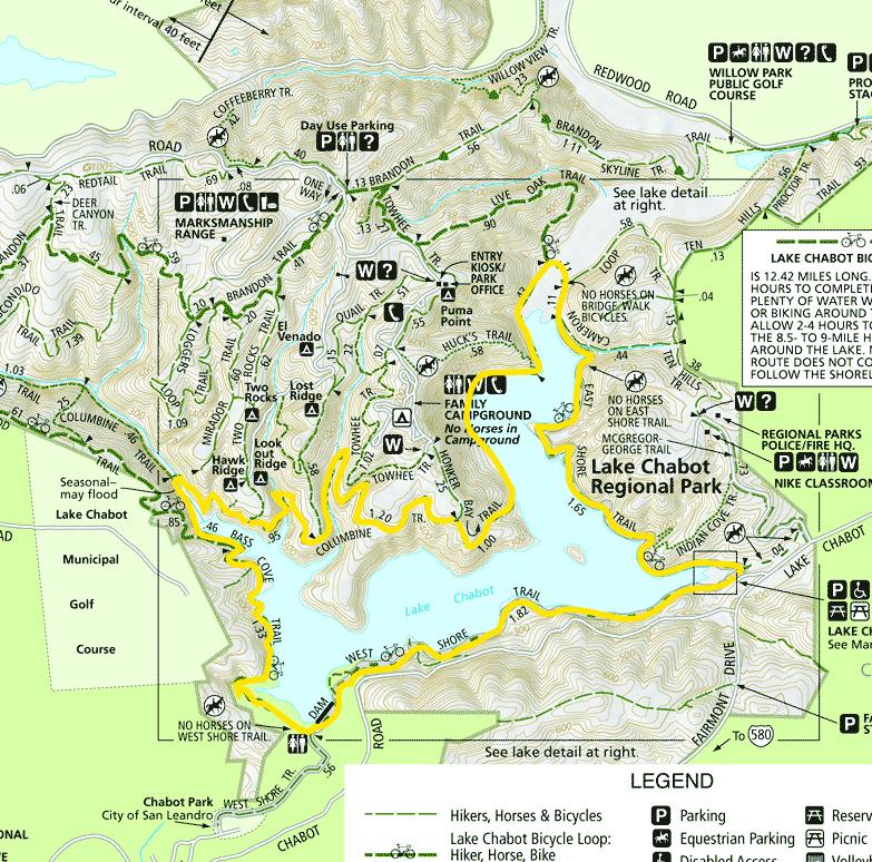 Mamma quail hiking california coming full circle around for Lake chabot fishing
