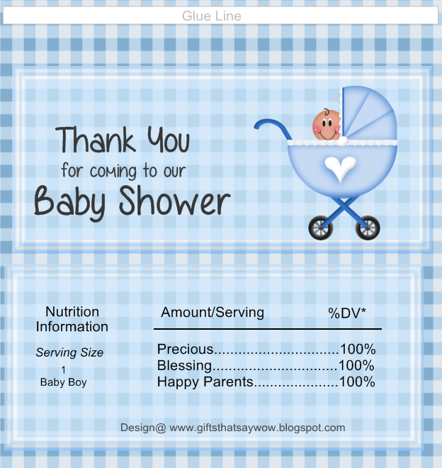 This is a photo of Declarative Free Printable Baby Shower Candy Bar Wrappers