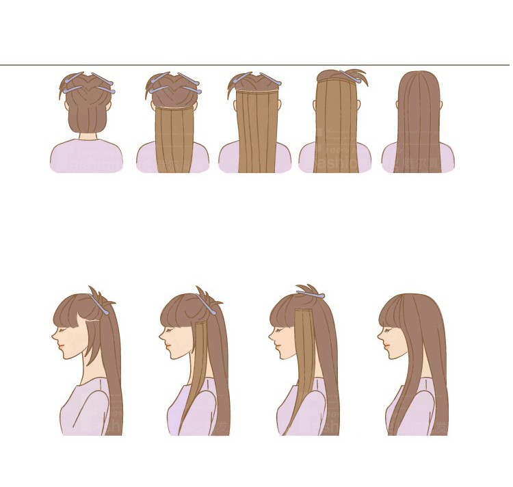 how to clip in your extensions