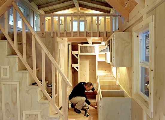 Mini casas interior mini casa de madera 3 - Interior casas de madera ...