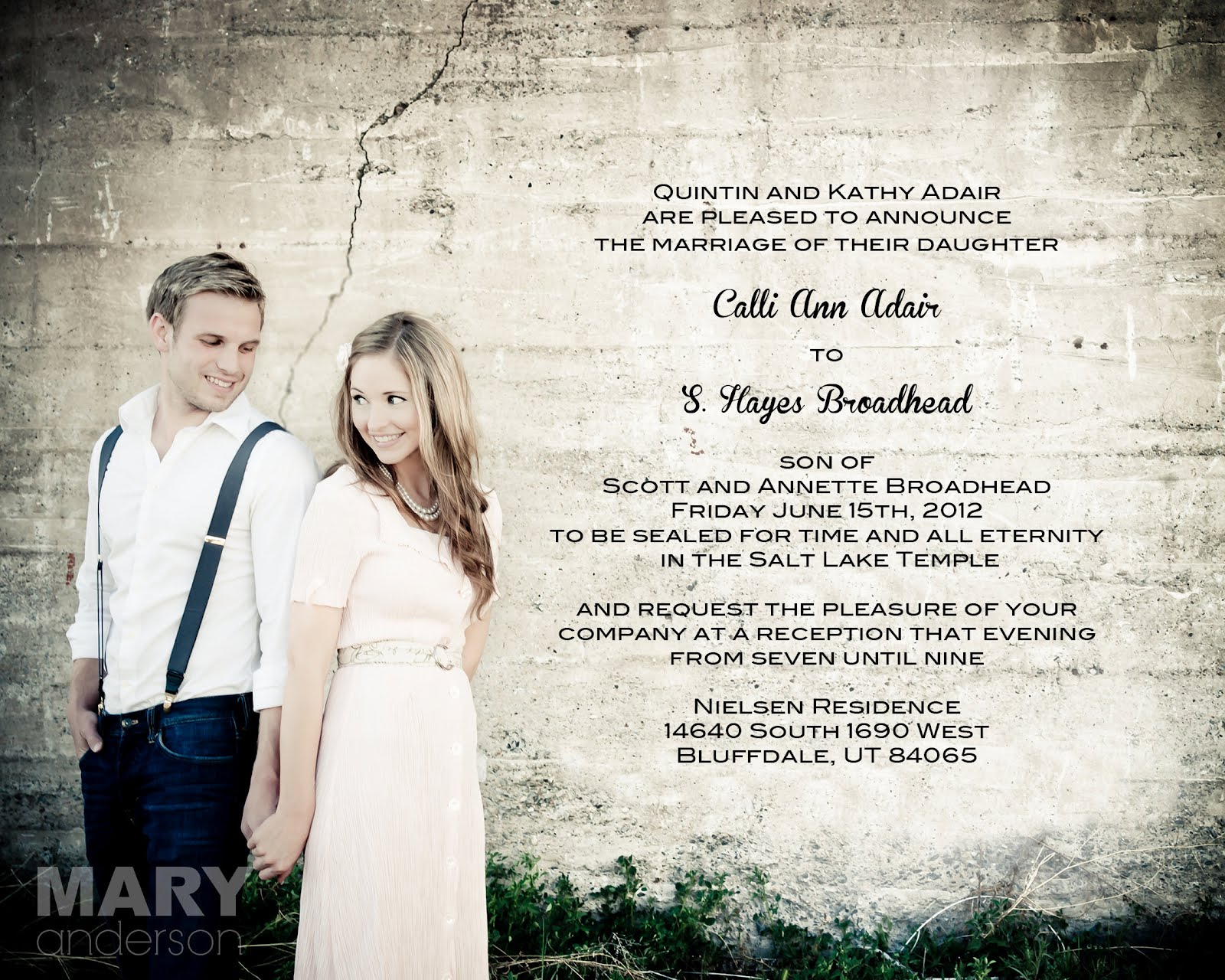 beautiful wedding announcements utah tbrb info - Wedding Invitations Utah