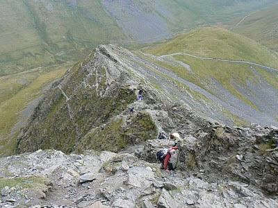On my second visit to Blencathra I took the adrenaline inducing Sharp Edge route