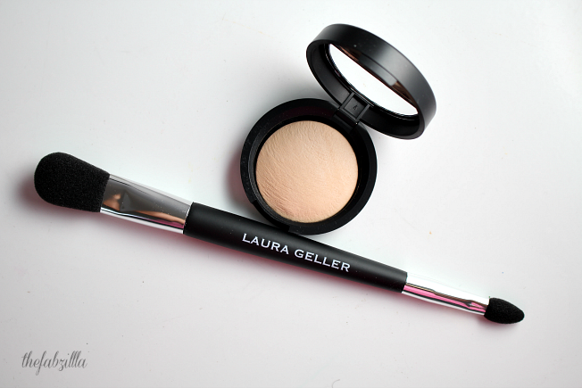 Laura Geller franch vanilla baked highlighter, ultra 21 days of beauty, how to highlight and contour