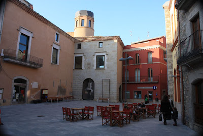 Plaça Major of Calonge in La Costa Brava