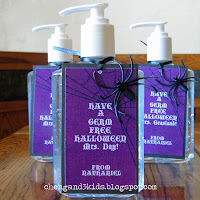 Halloween Teacher Gift -- Hand Sanitizer by chengand3kids.blogspot.com