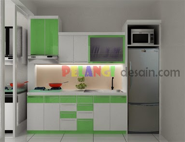 Kitchenset pelangi desain interior kitchen set nuansa for Kitchen set hijau