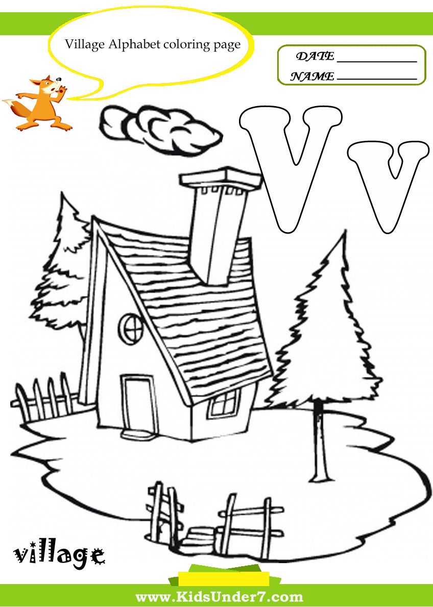v coloring pages for kids - photo #20