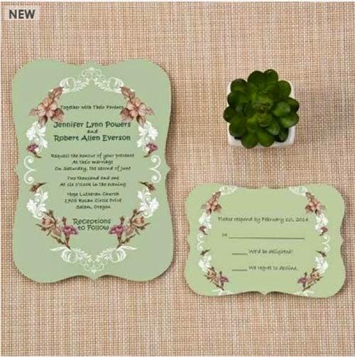 2015 New Elegant Wedding Invitations Ideas