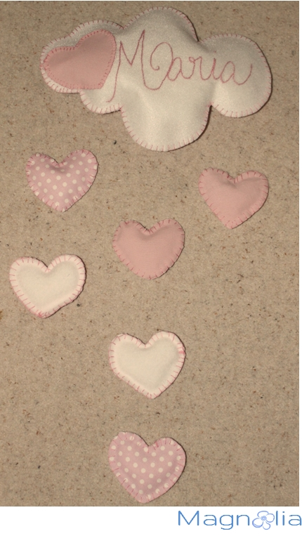 embroidery felt fabric hearts