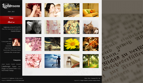 Blogger Template LightRoom Free Download