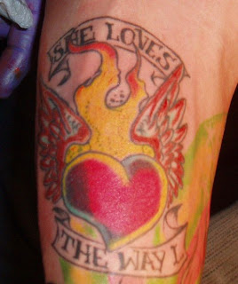 Heart Love Tattoo Design