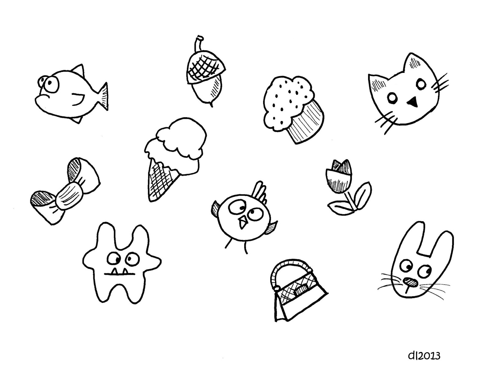 Deborah leigh cute kawaii doodles revisited for Cute but easy things to draw