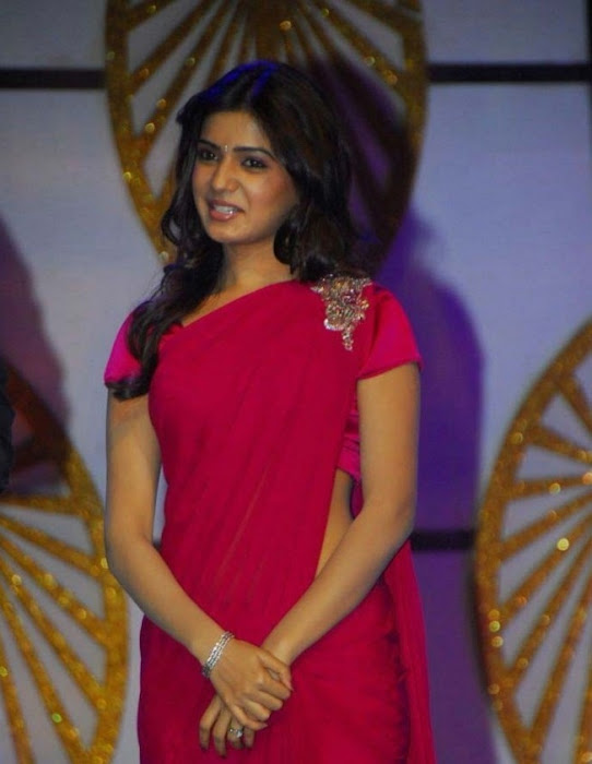 samantha in pink saree hot images