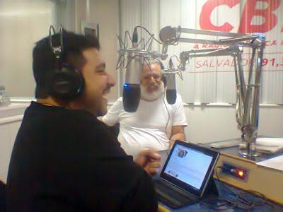 O diretor teatral Marcio Meirelles em entrevista ao programa Bate-Papo_Rádio CBN