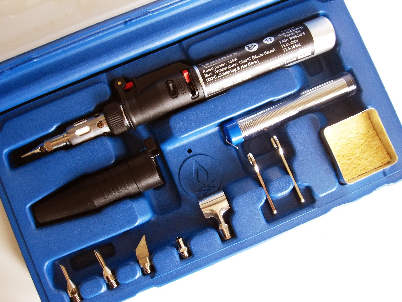Gas soldering torch kit