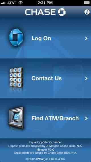 Chase Mobile (SM), iPhone Applications