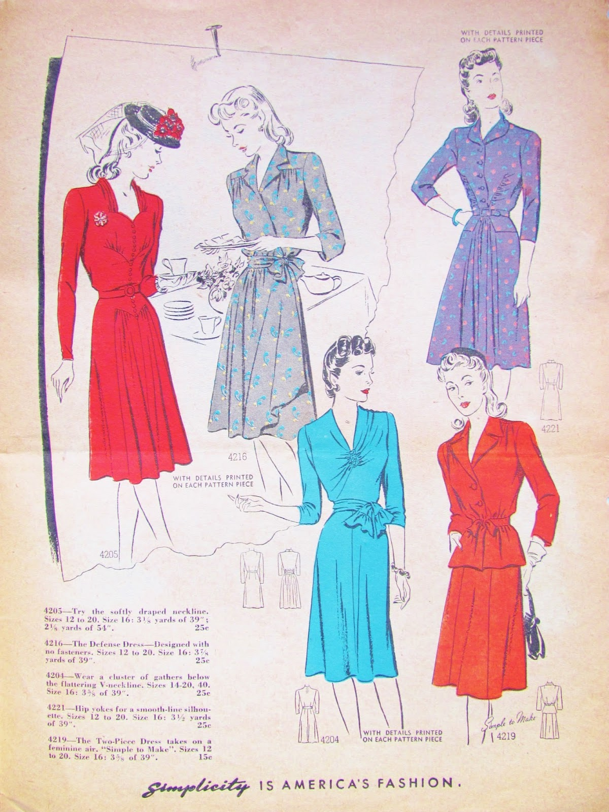 Pintucks wwii fashions spring of 1942 sewing patterns wwii fashions spring of 1942 sewing patterns jeuxipadfo Choice Image
