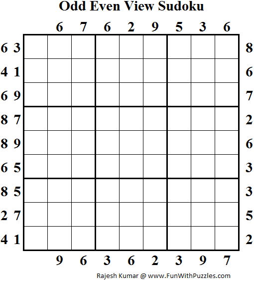Odd Even View Sudoku (Daily Sudoku League #116)