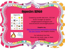 http://www.teacherspayteachers.com/Product/Opposites-BINGO-1003507
