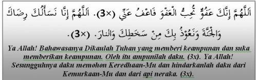 blog ni cik hanny punya :): Panduan Solat Tarawikh & Witir
