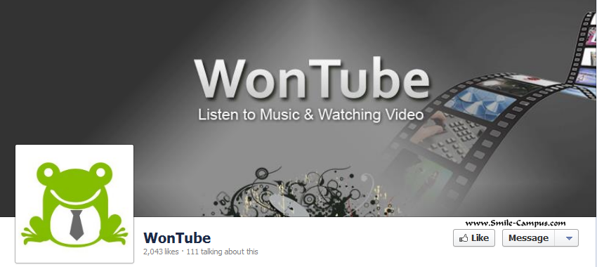 Facebook Fan Page of WonTube.com