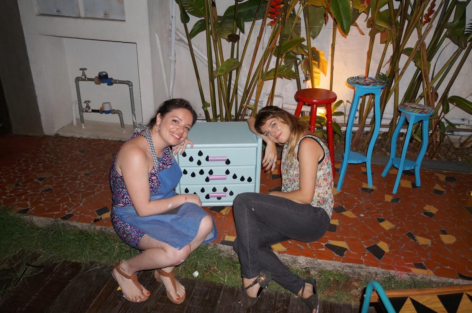 Carina Pedro e Thalita Carvalho - oficina Mão na Massa - blog Casa de Colorir