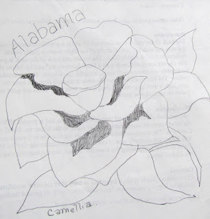 appliqued state flower pattern alabama