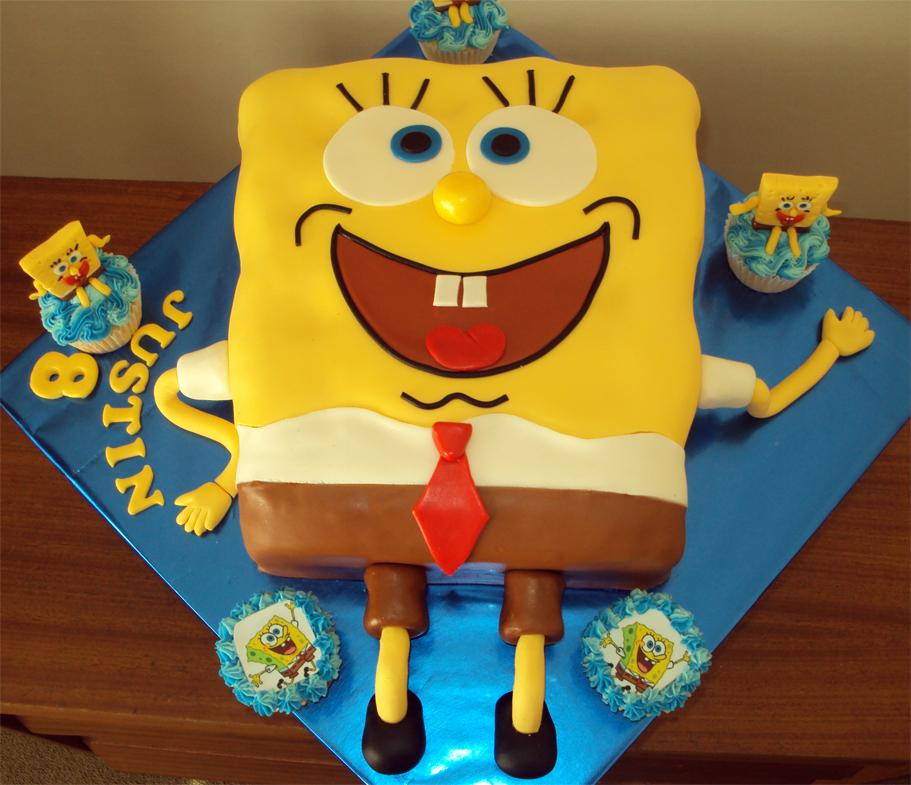 Delanas Cakes Spongebob Square Pants Cake Cupcakes