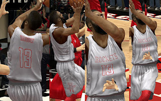 NBA 2K13 Houston Rockets Christmas Jersey