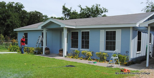 Exterior Painting Project for The Cottage, a complete color change. We love the finished product. Miz Helen's Country Cottage