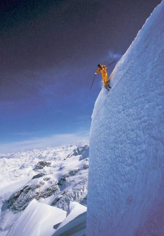 Самый крутой горнолыжный склон в Австрии «Виппталь» (Wipptal). В самом крутом месте трасса имеет угол наклона 103%