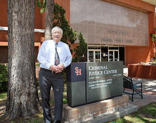 Dr. Dowling outside the Beto Criminal Justice Center.