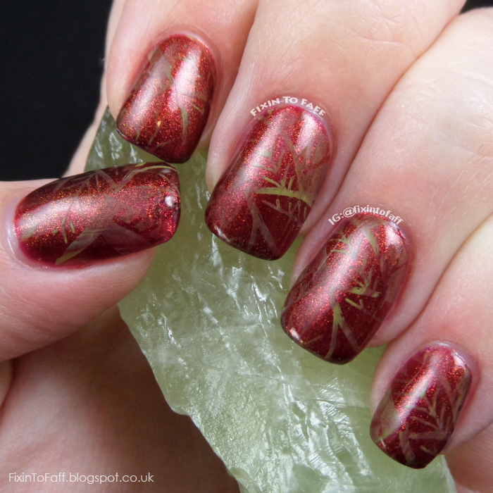 Thatleanne Firey Autumn Leaves Nail Art: Fixin To Faff