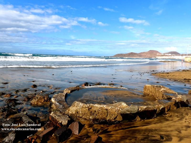 Historia de la playa de Las Canteras desenterrada por temporal
